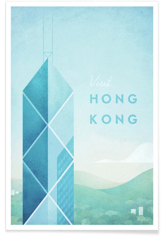 Voyages, Vintage voyage, Hong Kong vintage - Voyage affiche
