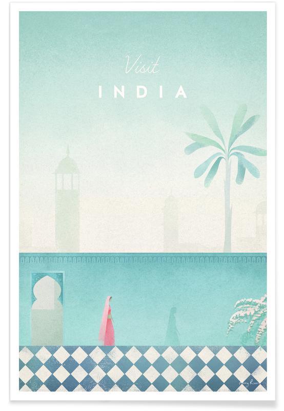 Travel, Vintage Travel, Vintage India Travel Poster