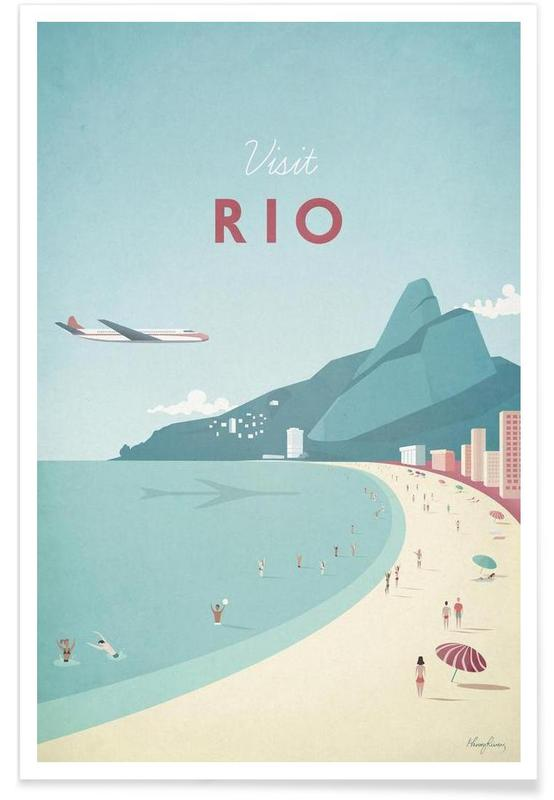 Voyages, Vintage voyage, Rio vintage - Voyage affiche