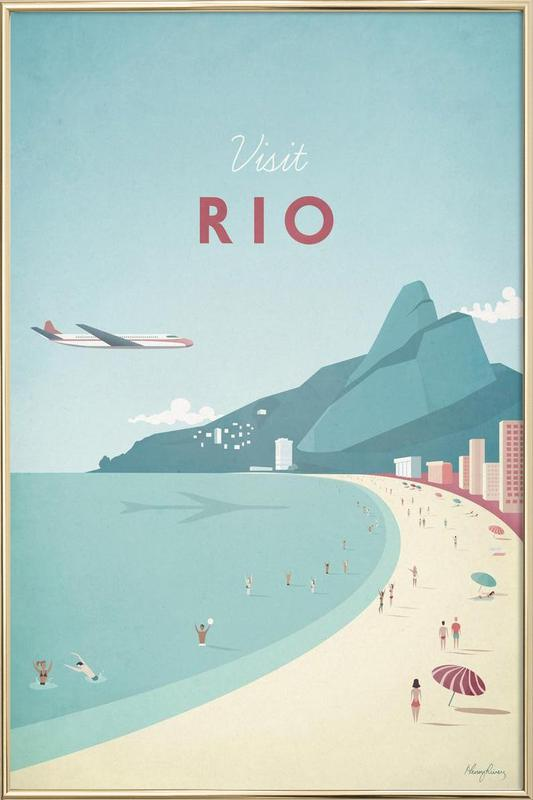Rio affiche sous cadre en aluminium