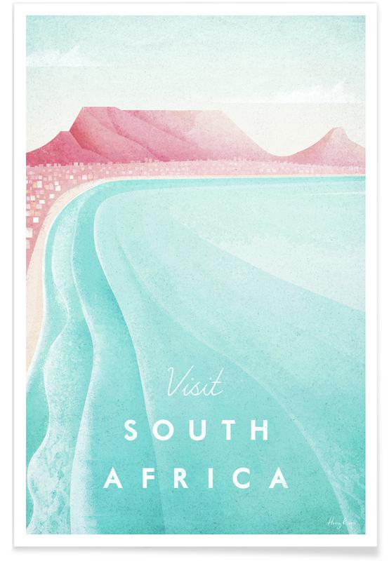 Voyages, Vintage voyage, Afrique du Sud vintage - Voyage affiche