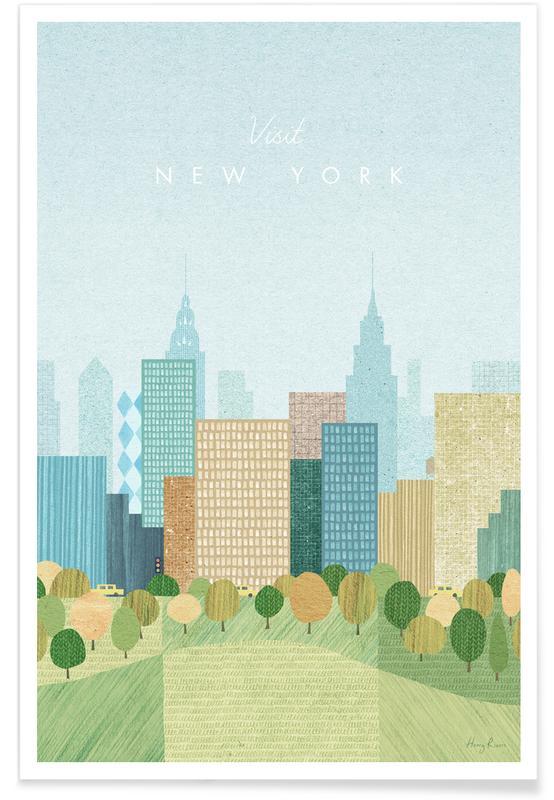 Vintage voyage, Voyages, Vintage New York, voyage d'automne affiche