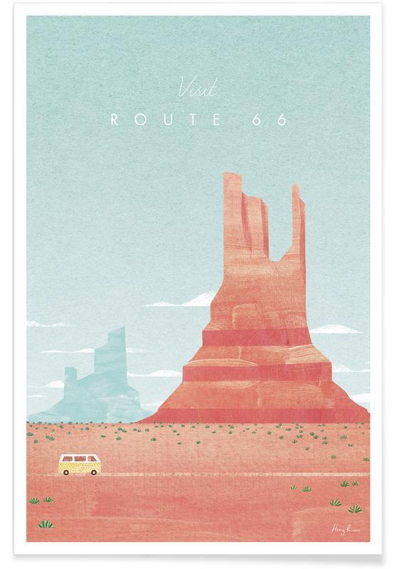 Voyages, Vintage voyage, Route 66 affiche