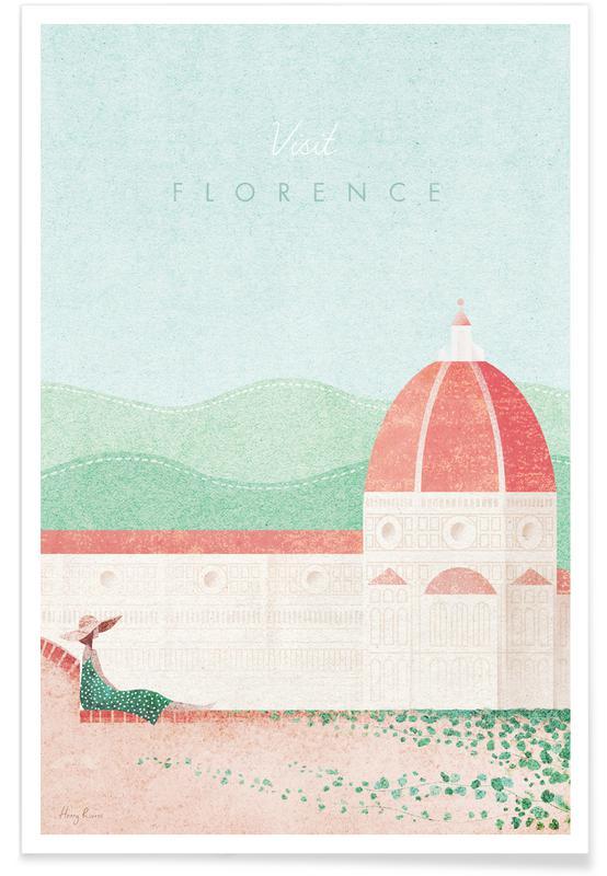 Rejser, Vintage rejser, Vintage Firenze Rejser Plakat
