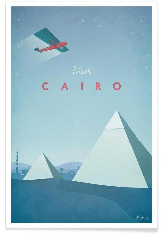Reizen, Vintage reis, Vintage Caïro - reizen poster