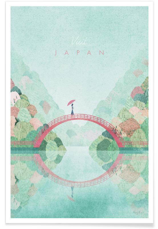 Voyages, Vintage voyage, Vintage Japon, voyage d'automne affiche