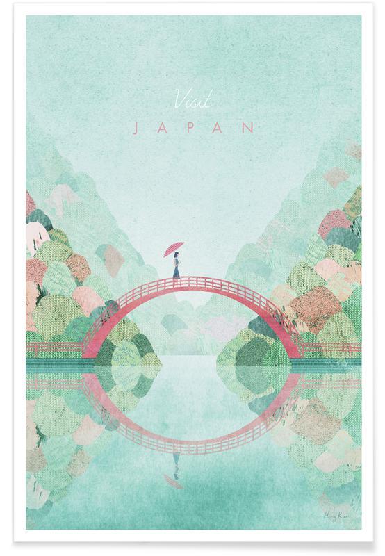 Rejser, Vintage rejser, Vintage Japan, Efterår Rejser Plakat