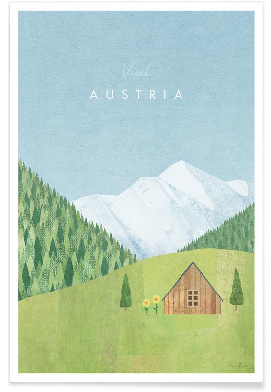 Voyages, Vintage voyage, Austria affiche
