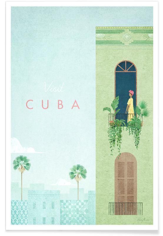 Voyages, Vintage voyage, Vintage voyage à Cuba affiche
