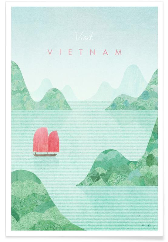 Voyages, Vintage voyage, Vietnam affiche