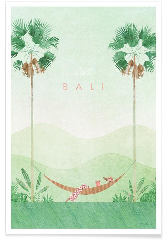 Voyages, Vintage voyage, Vintage voyage à Bali affiche