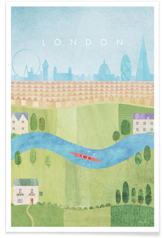 Vintage voyage, Voyages, Londres, London II affiche