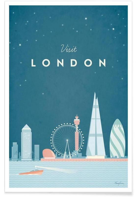 Vintage voyage, Londres vintage - Voyage affiche