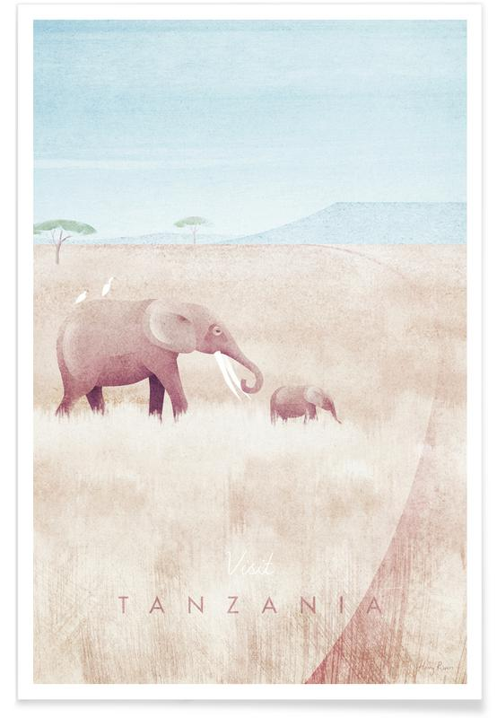 Paysages abstraits, Voyages, Tanzania affiche