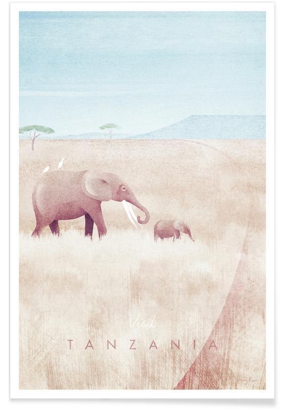 Abstrakte Landschaften, Reise, Tanzania -Poster