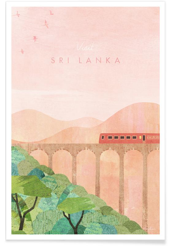 Abstrakte Landschaften, Reise, Sri Lanka -Poster
