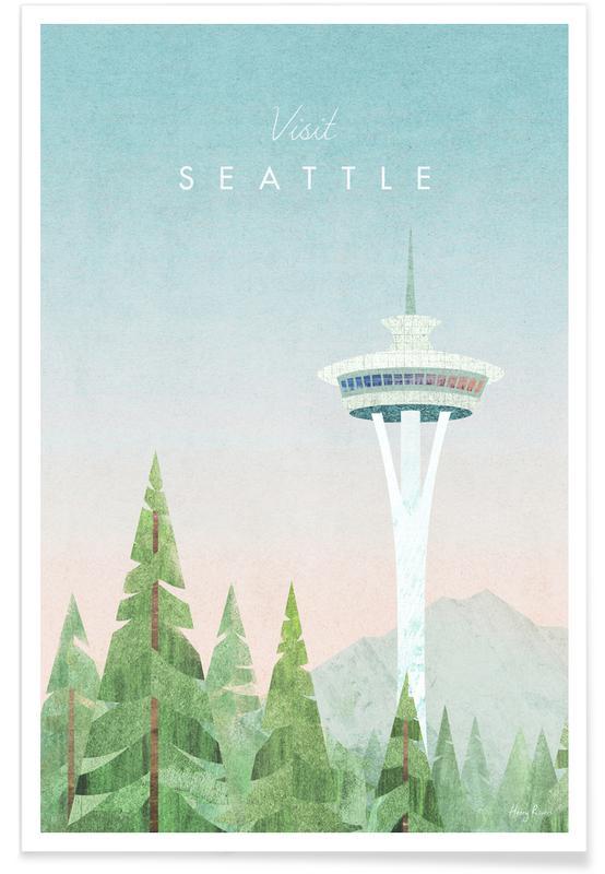Abstrakte Landschaften, Reise, Seattle -Poster
