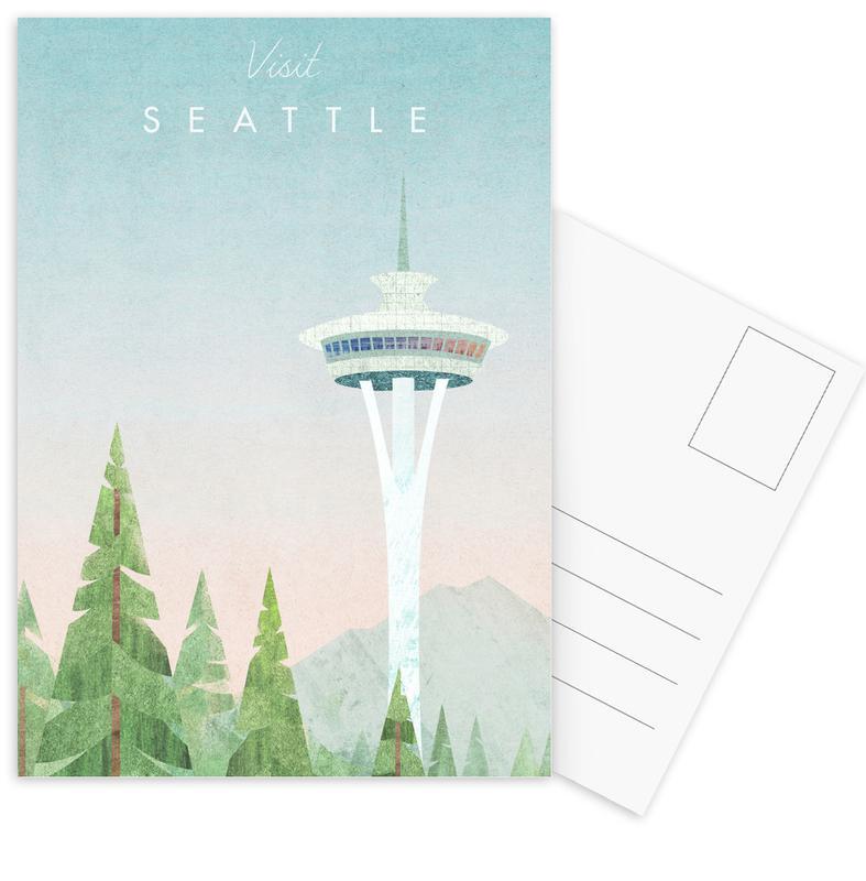Abstracte landschappen, Reizen, Seattle ansichtkaartenset