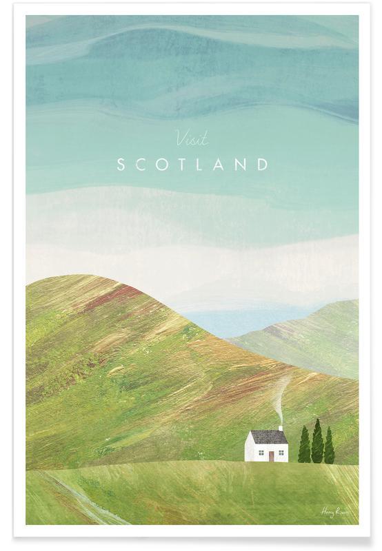Paysages abstraits, Voyages, Scotland affiche