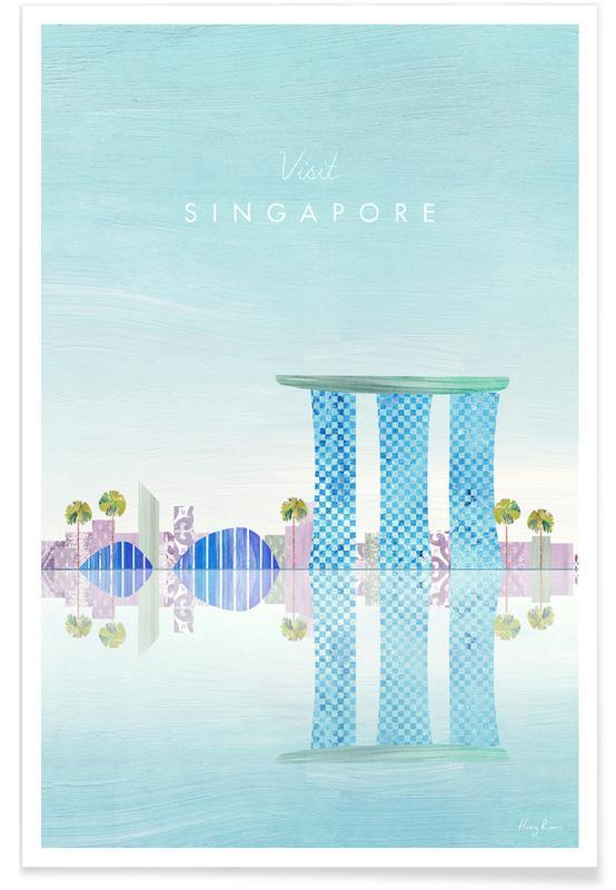 Paysages abstraits, Voyages, Singapore affiche