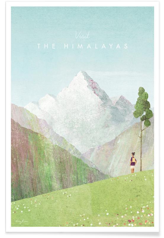 Abstracte landschappen, Reizen, Himalayas poster