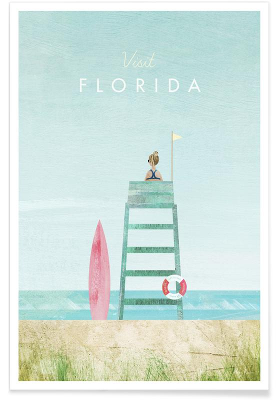 Abstract Landscapes, Travel, Florida Poster