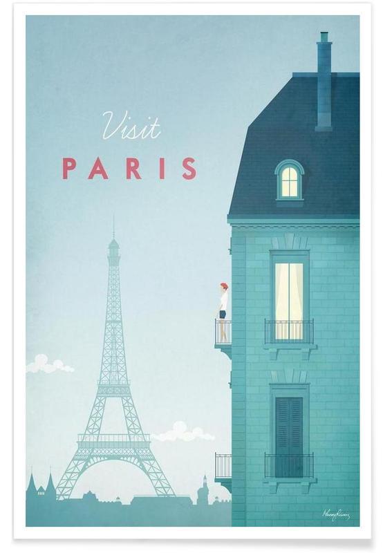 Rejser, Vintage rejser, Vintage Paris Travel Plakat