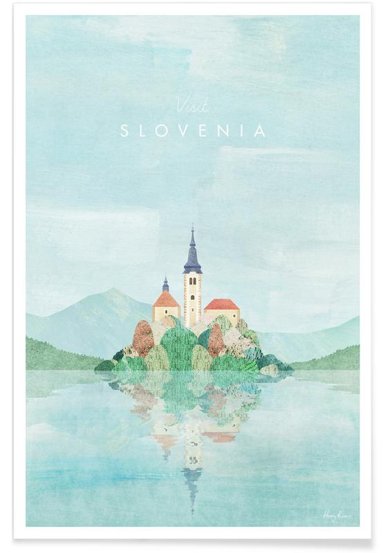 Paysages abstraits, Voyages, Slovenia affiche