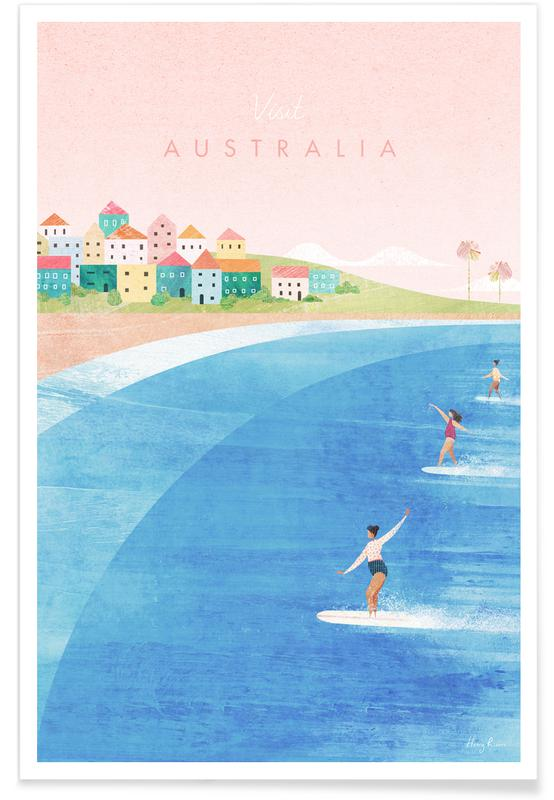 Abstract Landscapes, Travel, Australia Poster