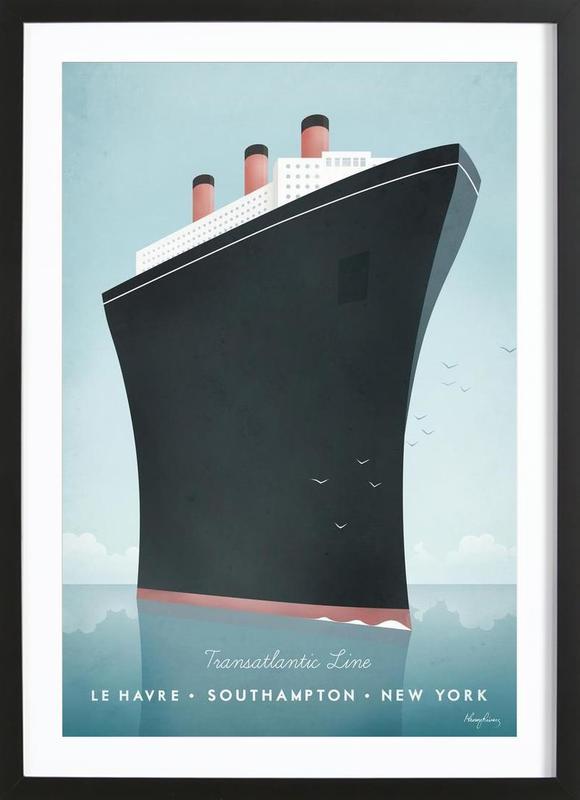 Cruise Ship affiche sous cadre en bois