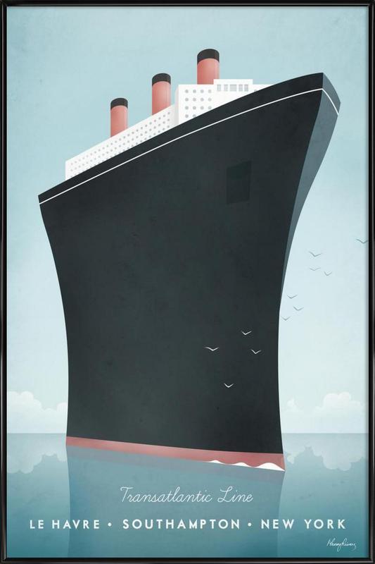 Cruise Ship -Bild mit Kunststoffrahmen