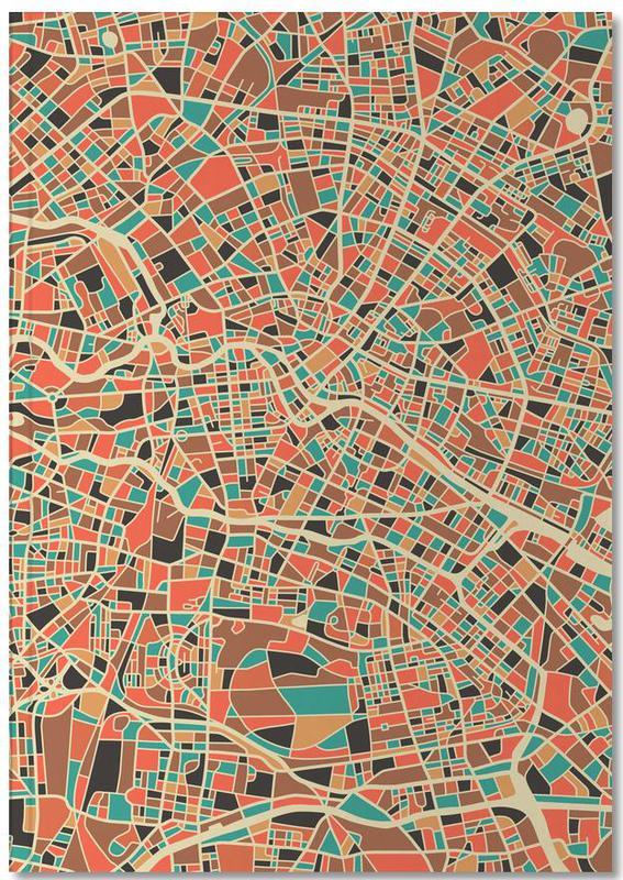 Berlin Abstract Map Notebook