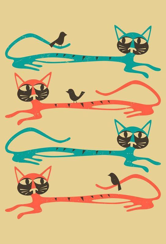 Birds on a cat Acrylic Print