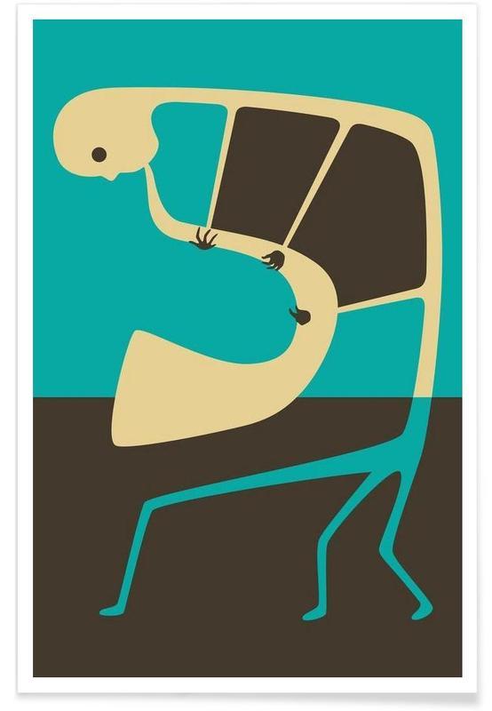 Jazz, Blues Saxophone affiche