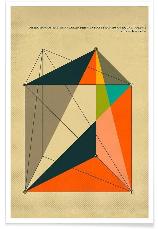 , Dissection triangular prism affiche