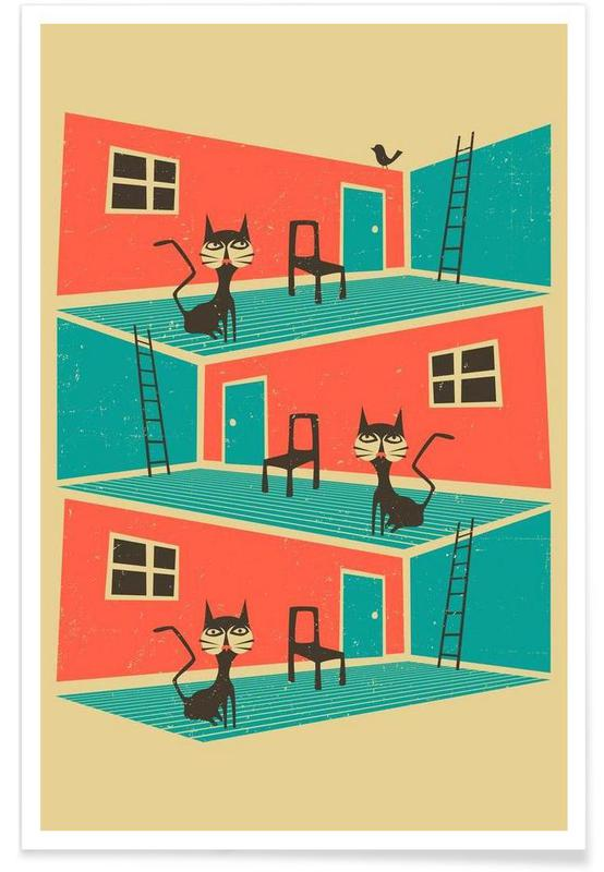 Chats, Indoor Cat affiche