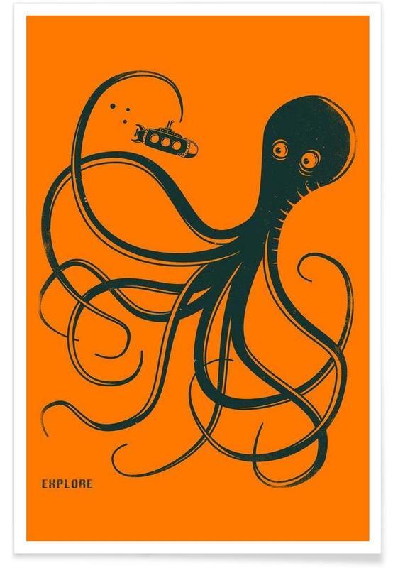 Pieuvres, Octopus affiche