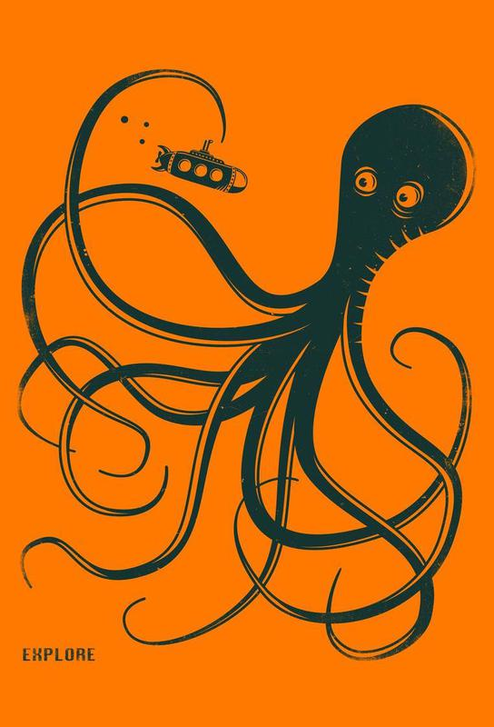 Octopus Aluminium Print