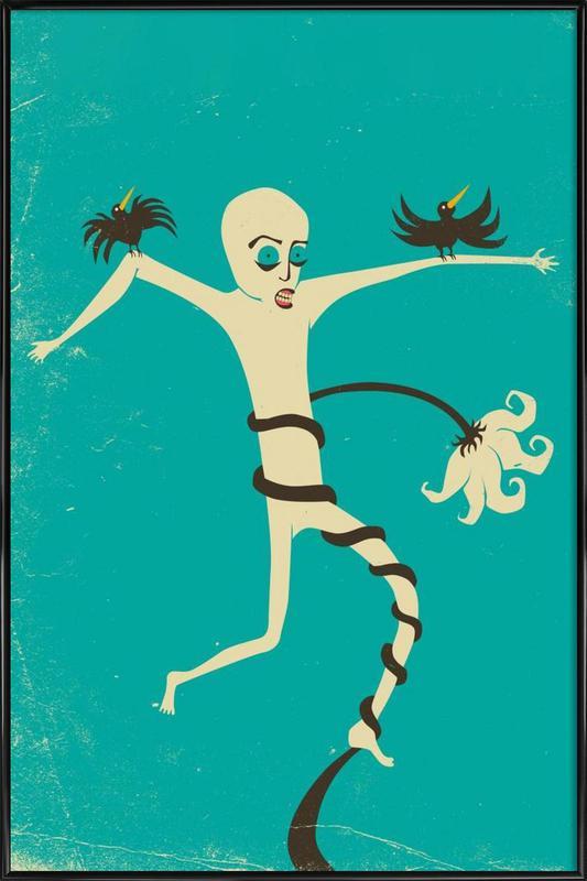 Struggle blue ingelijste poster