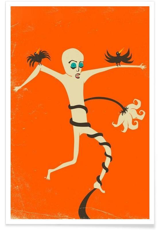 Struggle orange poster