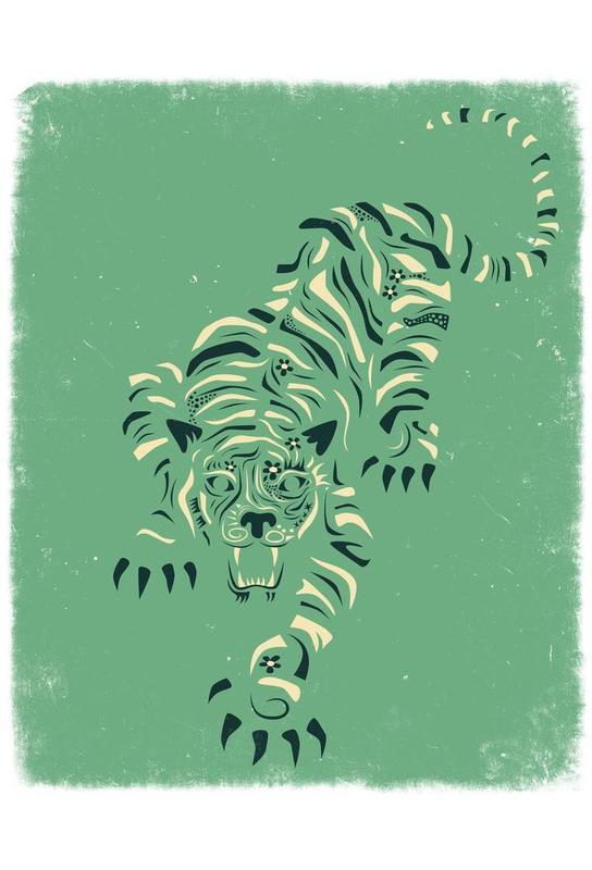 Tiger blue -Alubild