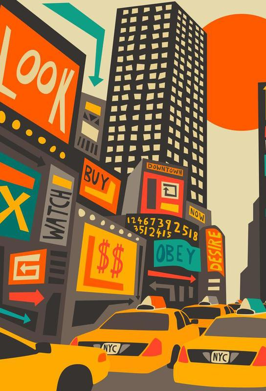 Time Square day -Alubild