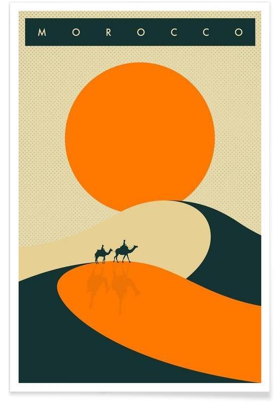 Retro, Reise, Morocco -Poster
