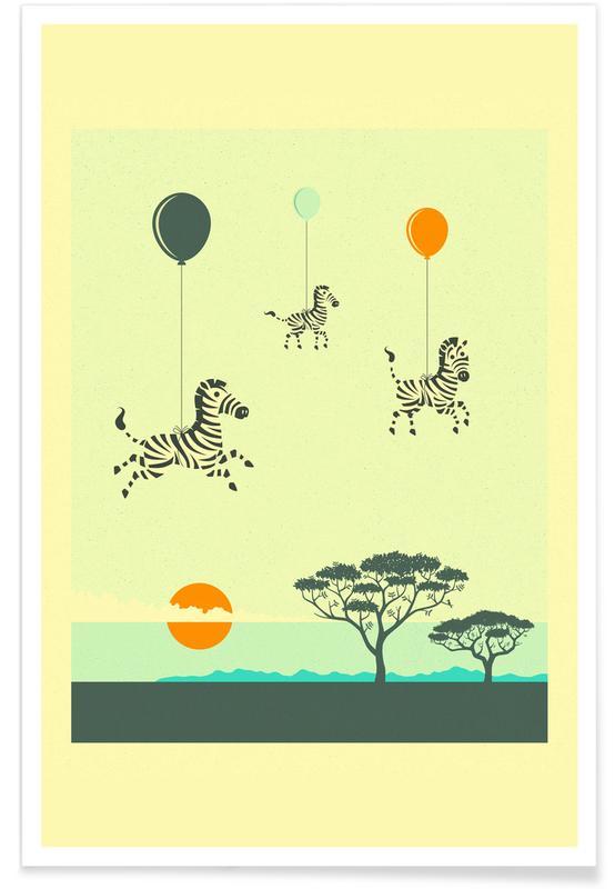 Flock of Zebras -Poster