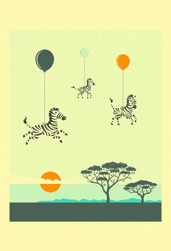Flock of Zebras -Acrylglasbild