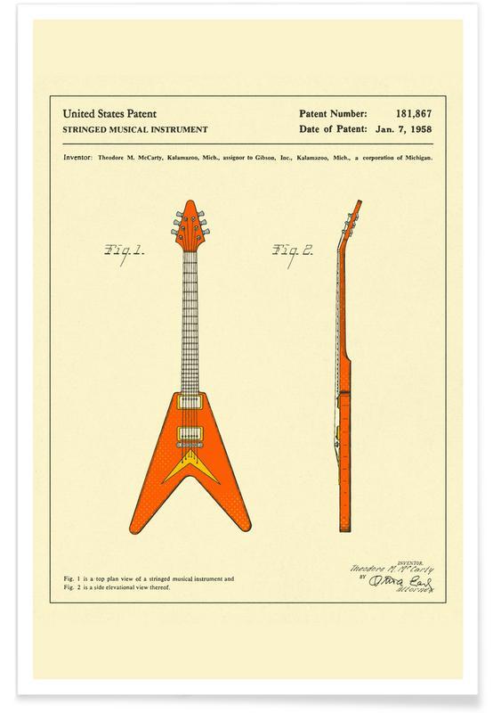 Gitarre, Guitar 1 -Poster