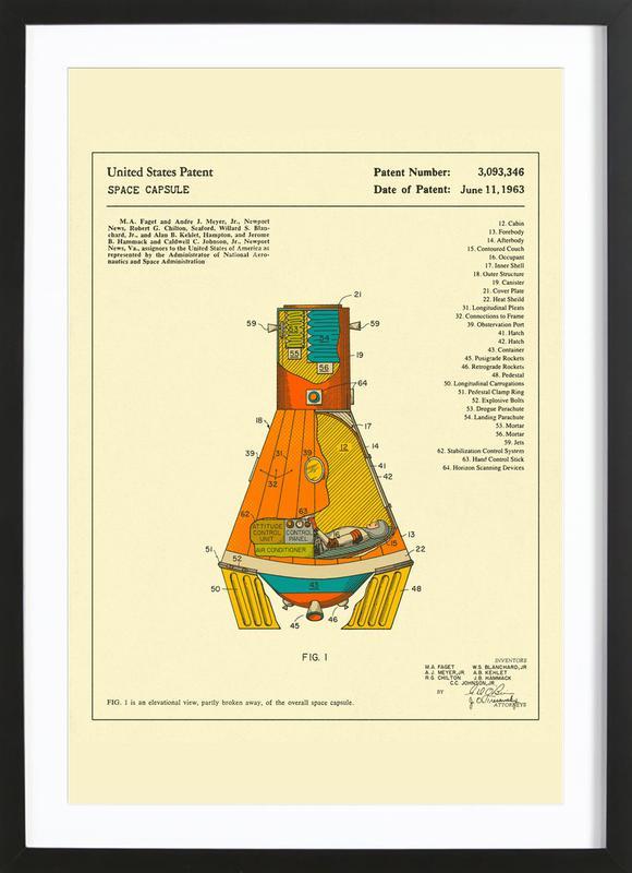 Space Capsule ingelijste print