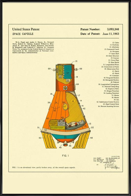 Space Capsule Framed Poster
