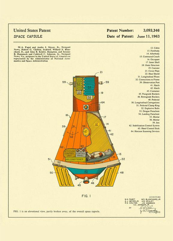 Space Capsule canvas doek