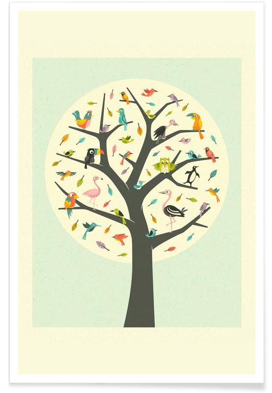 Kunst voor kinderen, Retro, Tree of Life poster
